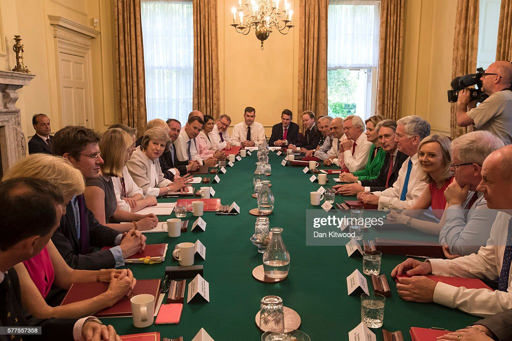 Theresa May Chairs Her First Cabinet Meeting As UK Prime Minister