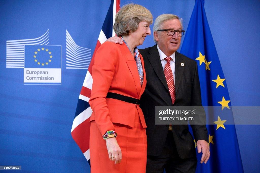 BELGIUM-EU-BRITAIN-POLITICS-SUMMIT : News Photo