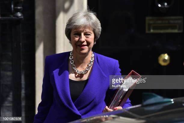 Business Secretary Greg Clark leaves 10 Downing Street London on July 18 2018 Theresa May will address Conservative MPs later amid bitter divisions...