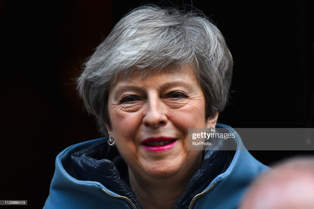 GBR: Theresa May Leaves Downing Street To Attend Prime Minister's Questions Before Heading To Brussels