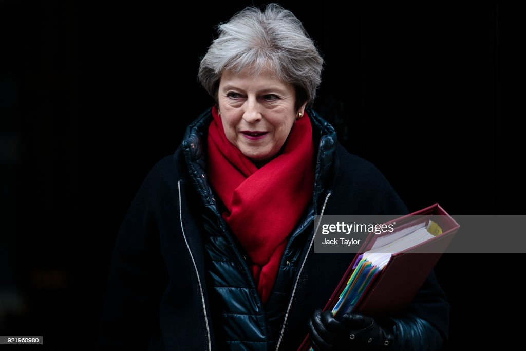 Theresa May Takes Prime Minister's Questions In Parliament : News Photo