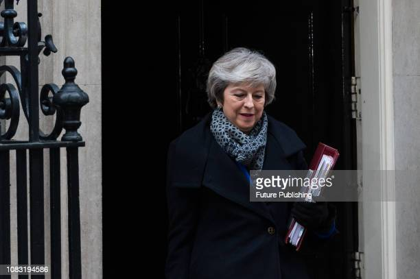 British Prime Minister Theresa May leaves 10 Downing Street in central London for the weekly PMQ session in the House of Commons Today MPs will...