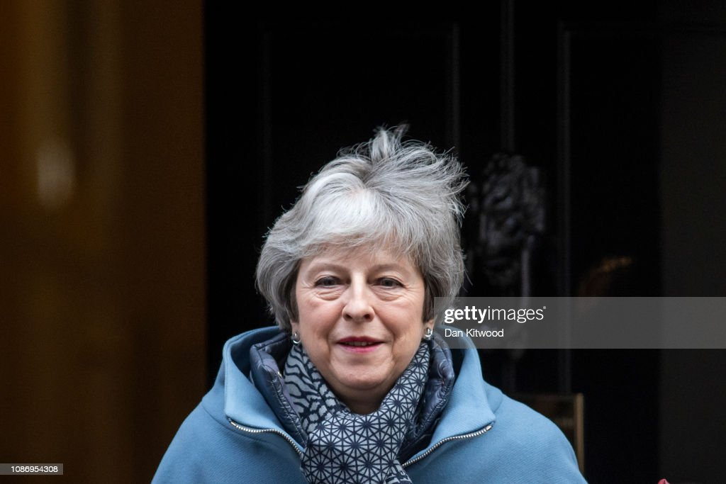 Theresa May Attends Prime Minster's Questions : News Photo