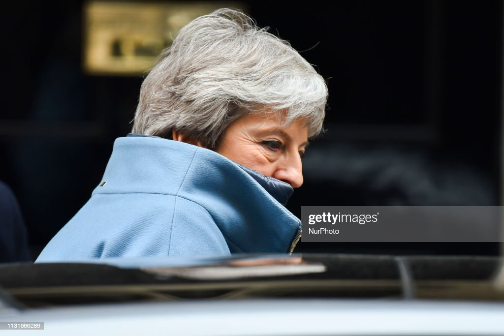 GBR: Theresa May Leaves Downing Street To Attend Prime Minister's Questions
