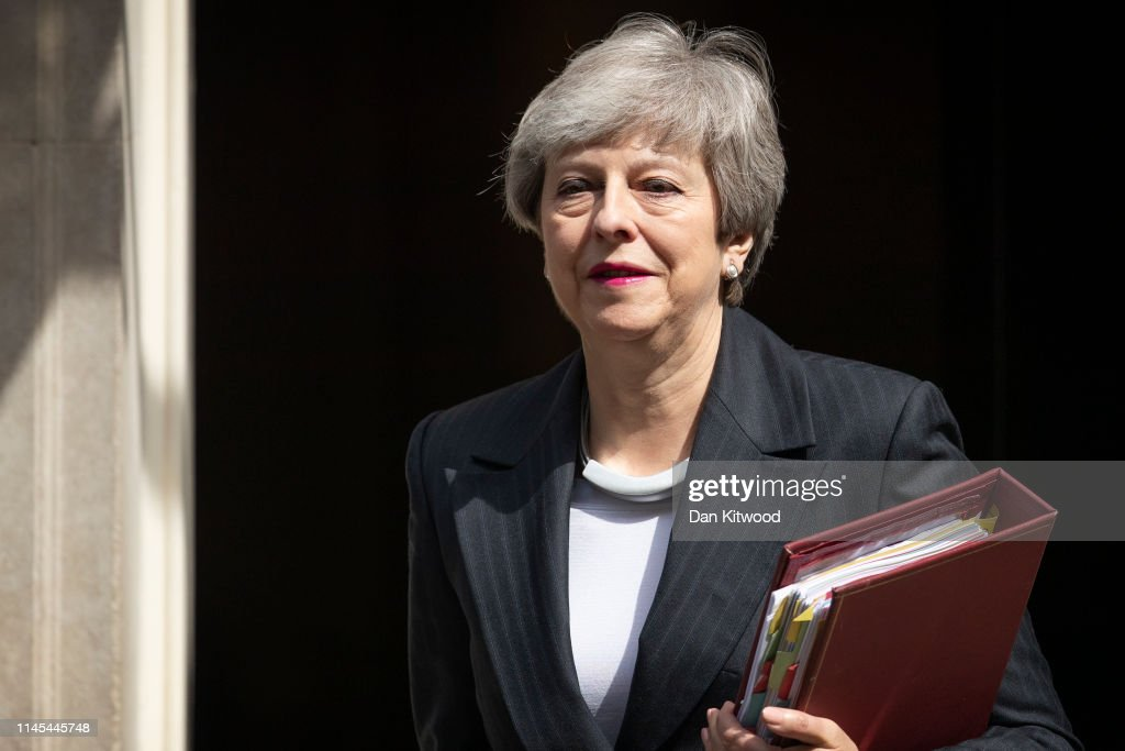 GBR: Theresa May Leaves For PMQs