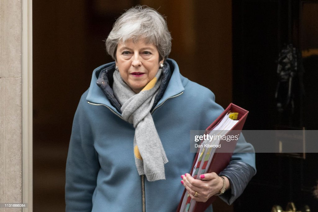 GBR: Britain's Prime Minister Theresa May Leaves For Weekly Prime Minister's Questions
