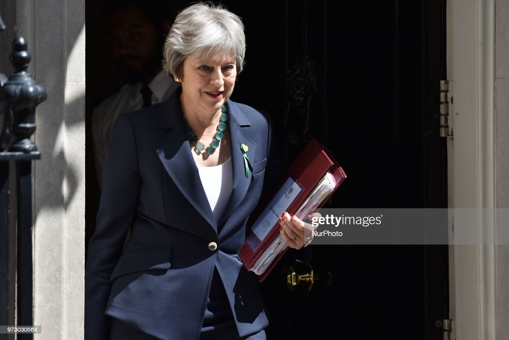 Theresa May Attends PMQs In The House Of Commons : News Photo