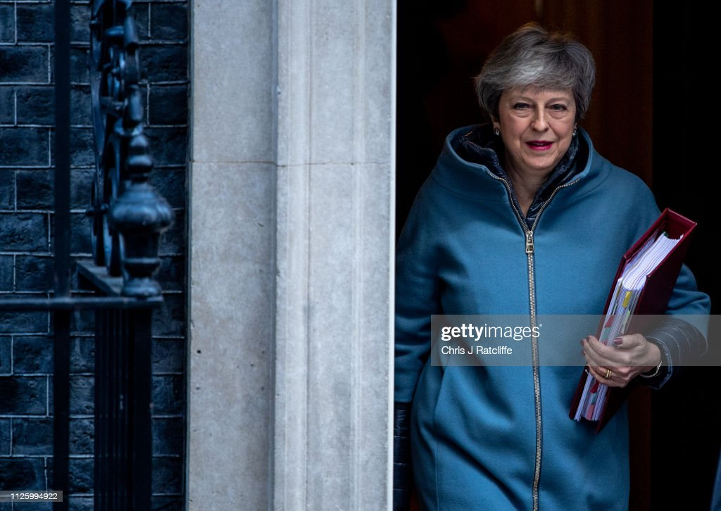 GBR: Britain's PM May Leaves for Weekly Prime Minister's Questions