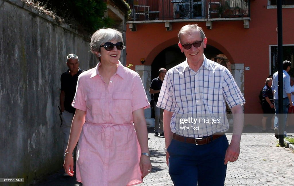 British Prime Minister Theresa May Holidays In Northern Italy