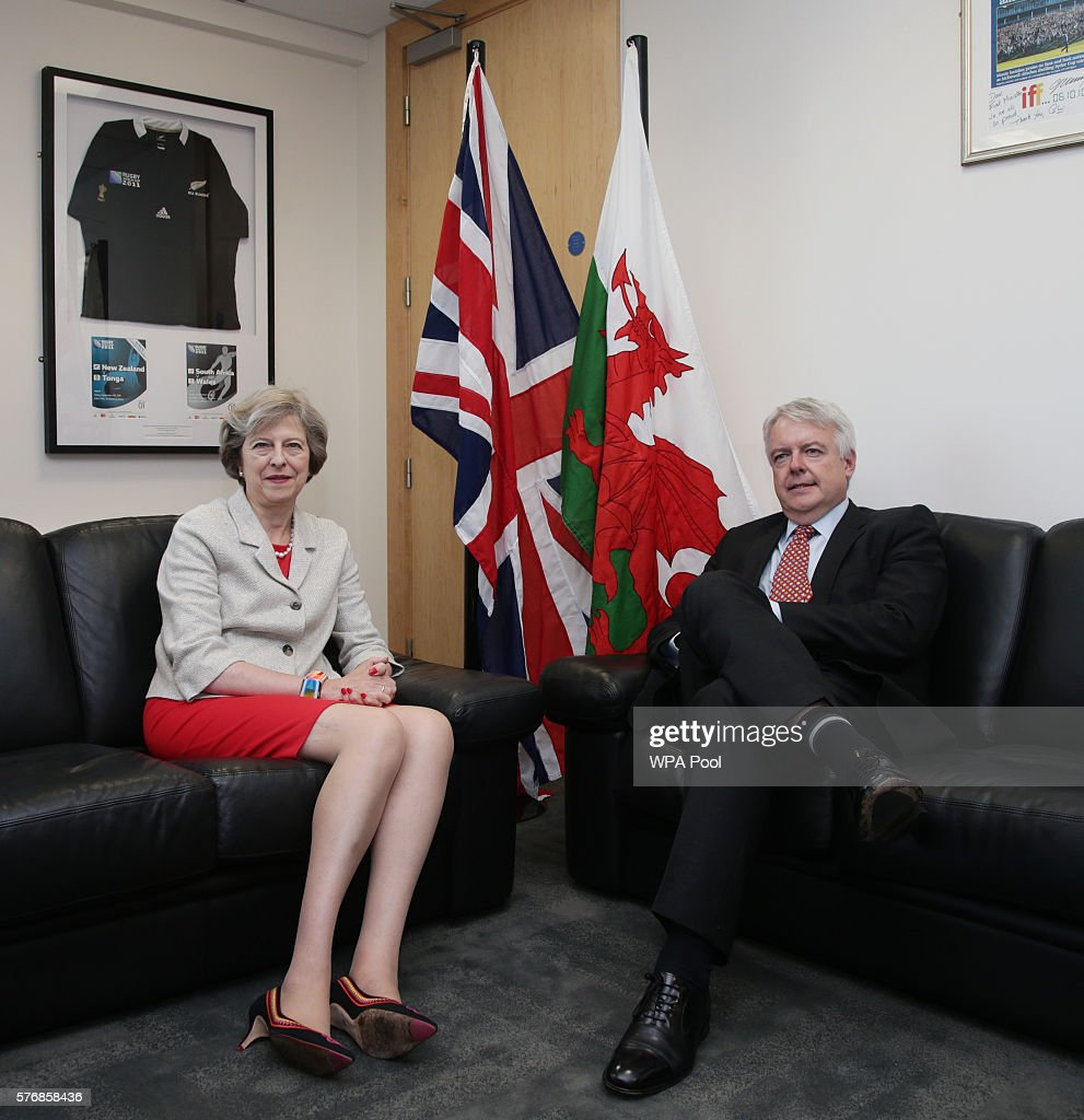 Theresa May Meets The Welsh First Minister