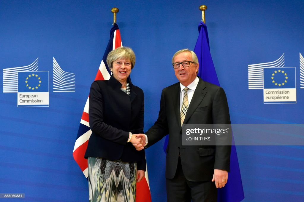 British Prime Minister Theresa May meets European Commission chief Jean-Claude Juncker in Brussels