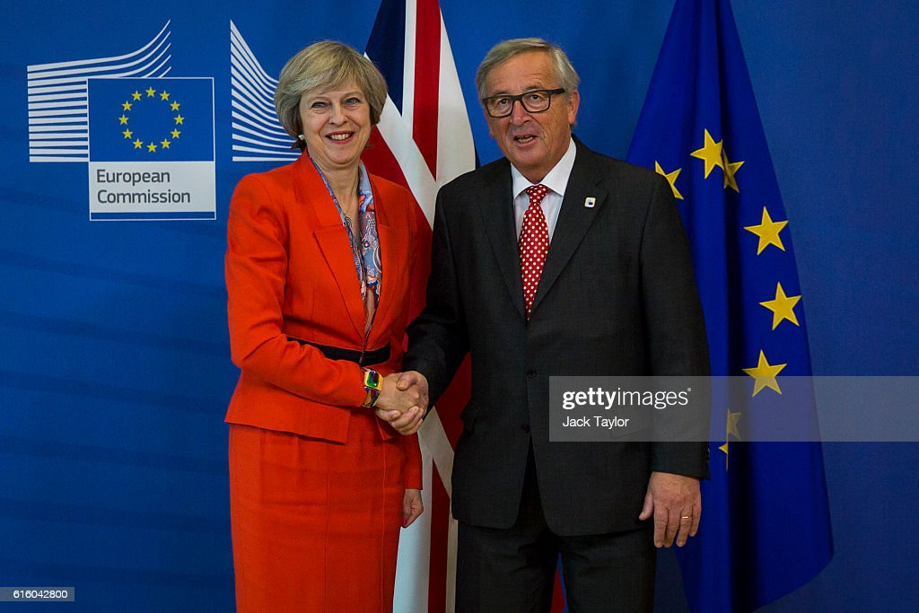 Theresa May Attends Her First EU Council Meeting As British Prime Minister