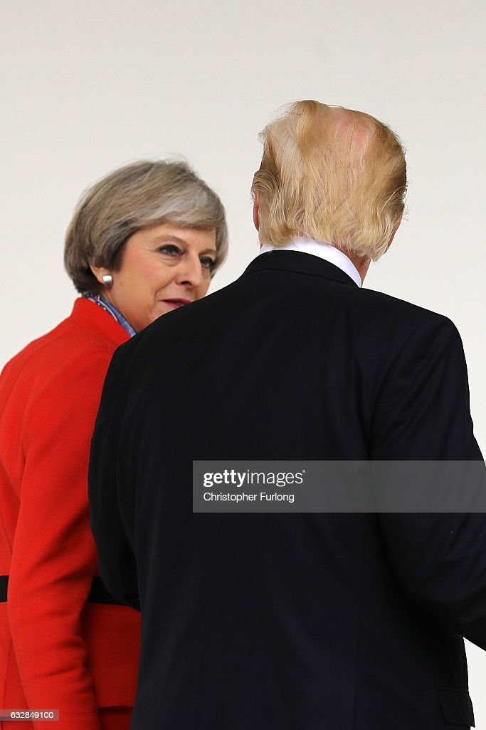 President Trump Meets With British PM Theresa May At The White House : News Photo