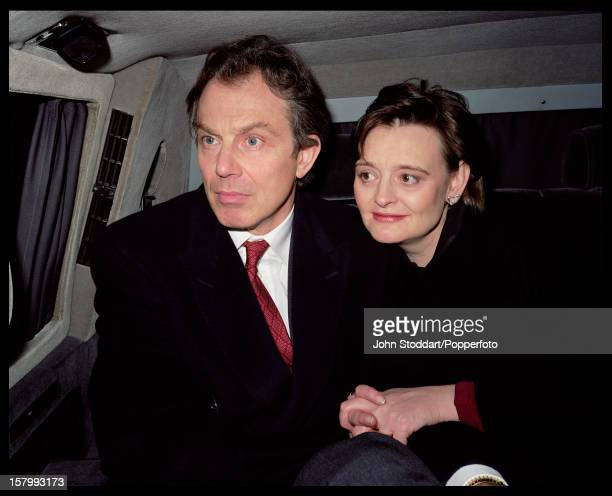 British Prime Minister Tony Blair and his wife Cherie Blair in Russia circa 2000
