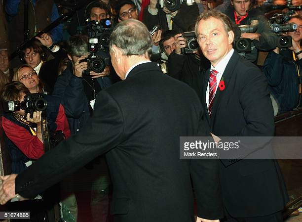 British Prime Minister Tony Blair arrives at the European Council during the EU Summit on November 4, 2004 in Brussels, Belgium. The EU ecomonic...