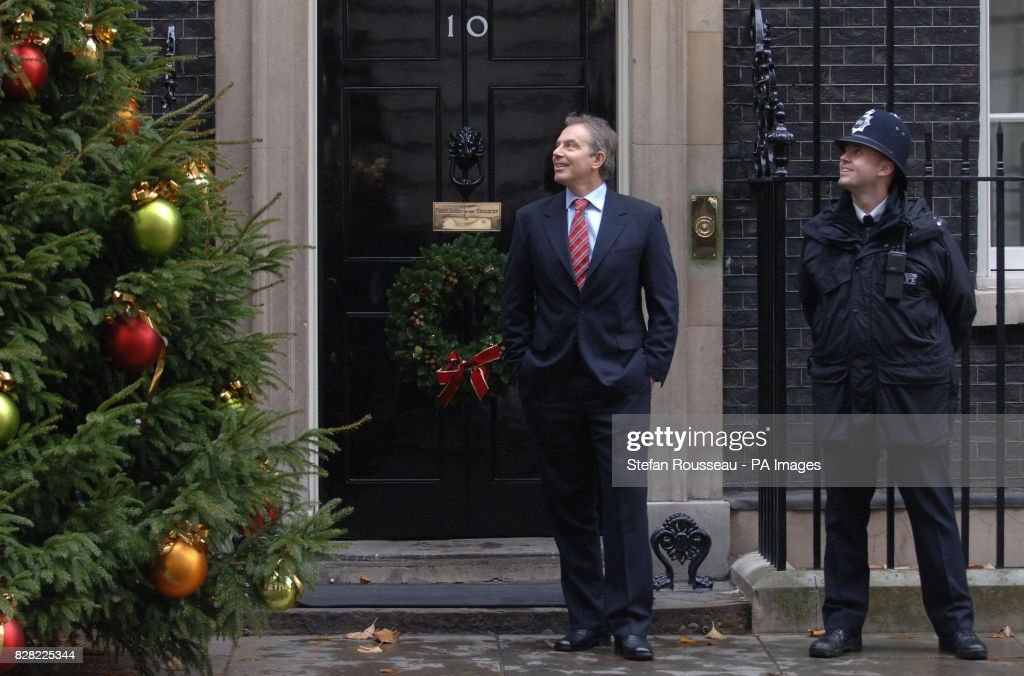 Politics portugal pictures getty images british prime minister tony blair looks at the christmas tree in downing street london m4hsunfo