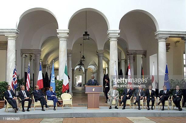 British Prime Minister Tony Blair US President Georges W Bush French President Jacques Chirac Italian Prime Minister Silvio Berlusconi UN Secretary...