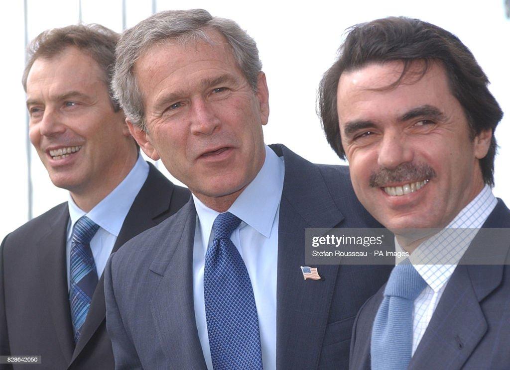 Blair Bush and Aznar Azores meeting : Fotografía de noticias