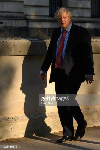 British Prime Minister walks to Downing Street ahead of the weekly Clap for our Carers on May 07 2020 in London United Kingdom Following the success...
