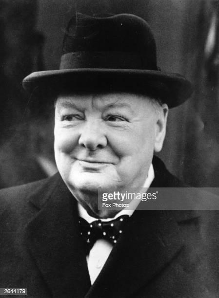 British Prime Minister Winston Churchill and English statesman