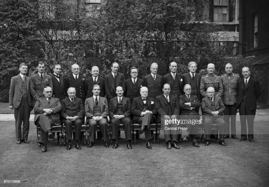 British Prime Minister Winston Churchill With His Wartime Cabinet, World  War II, 1941.