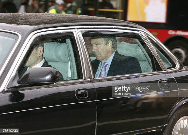 British Prime Minsiter Tony Blair arrives at the Labour Party National Executive Committee Meeting on March 19 2007 in London The committee...