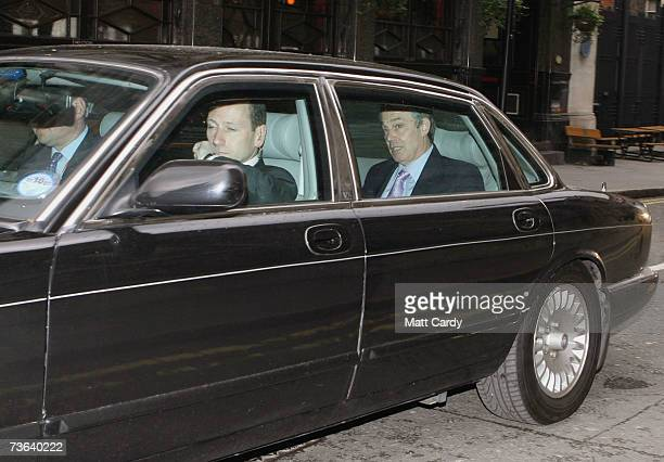 British Prime Minsiter Tony Blair leaves the Labour Party National Executive Committee Meeting on March 19 2007 in London The committee reportedly...