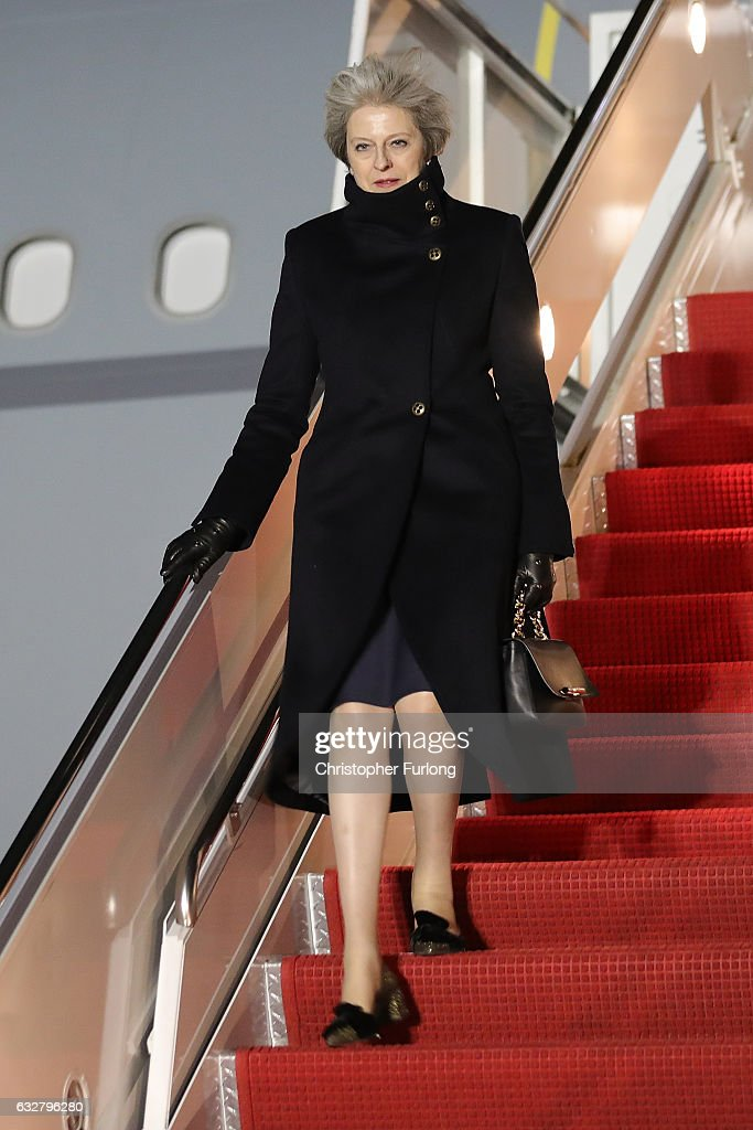 Theresa May Visits The United States Of America : News Photo