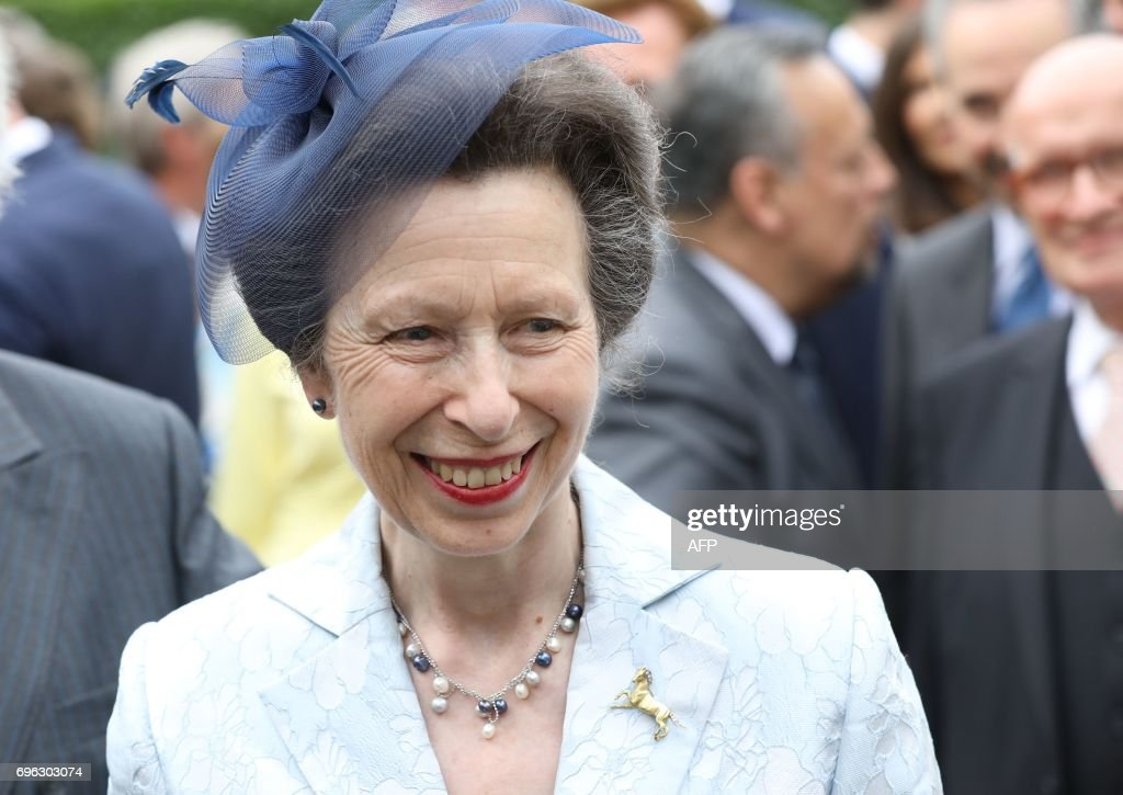 British Princess Anne arrives in Hamburg, northern Germany on June ...