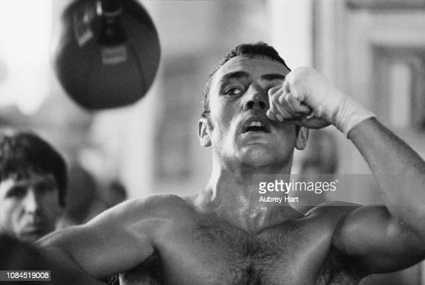 British professional boxer Alan Minter in training UK 25th September 1980