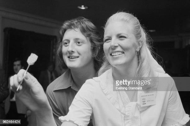 British professional darts players Eric Bristow and Maureen Flowers UK 22nd September 1978