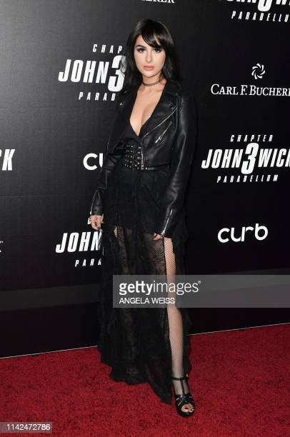 British professional gamer Alia Shelesh aka SSSniperWolf arrives for the world premiere of John Wick Chapter 3 Parabellum at One Hanson in New York...