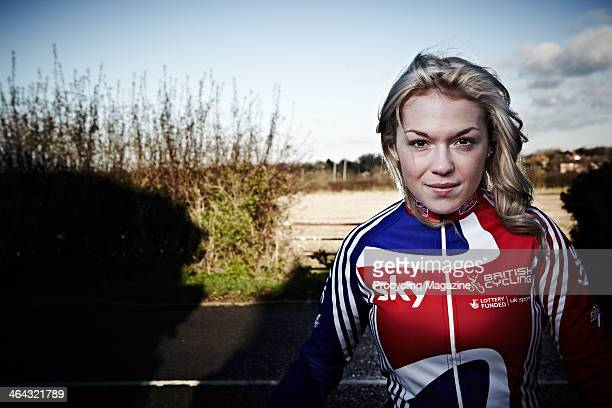 British professional road race cyclist and Junior World Road Race Champion Lucy Garner, photographed during a portrait shoot for Procycling Magazine,...