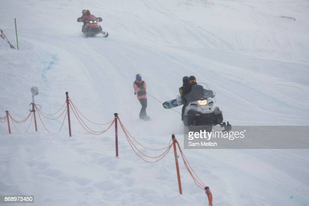 British professional snowboarder Katie Ormerod during the 2017 Laax Open Slopestyle competition on 17th January 2017 in Laax Switzerland The Laax...