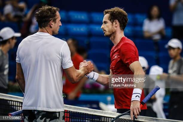 British professional tennis player from Scotland Andy Murray defeated Tennys Sandgren 6-3, 6-7, 6-1 in two hours and 41 minutes at the first round of...