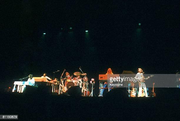 British progressive rock band Supertramp performing on stage circa 1980