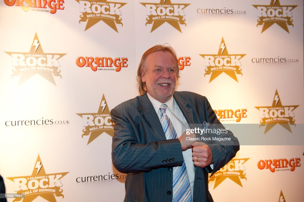 British progressive rock musician Rick Wakeman attends the Classic Rock Roll of Honour at the Roundhouse, November 13, 2012.