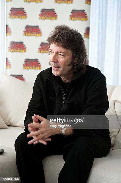 British progressive rock singersongwriter and guitarist Steve Hackett photographed during an interview at the EMI Music headquarters in London...