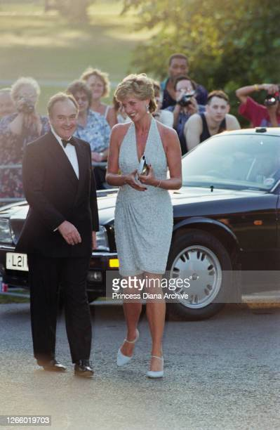 British property developer and art collector Peter Palumbo, chairman of Serpentine Gallery Trustees, with British Royal Diana, Princess of Wales ,...