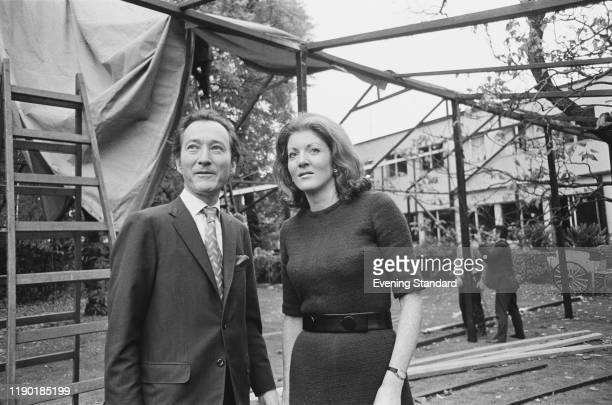 British publisher Paul Hamlyn posed with Helen PriceGuest on 31st October 1970