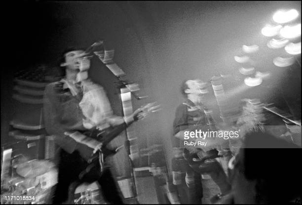 British punk band The Clash performing live at a benefit concert for New Youth at the Temple Beautiful, San Francisco, US, 8th February 1979. The...