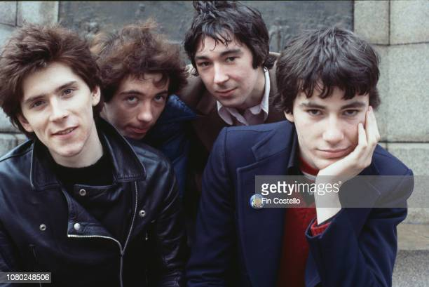British punk rock band Buzzcocks UK 1978 they are John Maher Steve Diggle Pete Shelley Steve Garvey