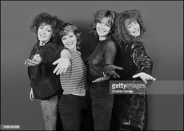 British punk rock group The Slits London 1979 Left to right bassist Tessa Pollitt drummer Palmolive guitarist Viv Albertine and singer Ari Up