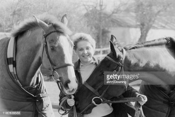 British racehorse trainer and author Jenny Pitman UK 3rd March 1984
