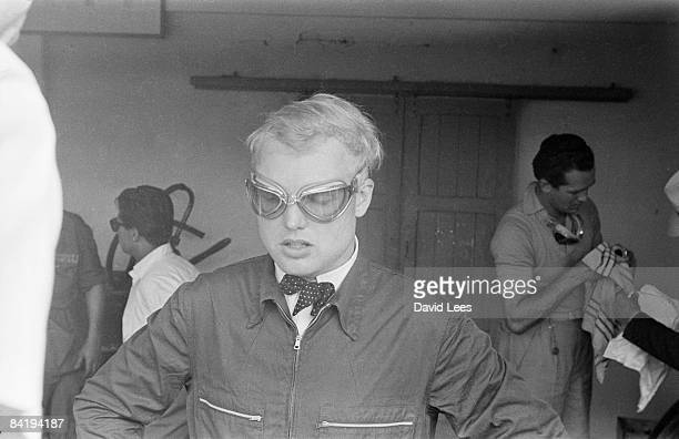 British racing champion Mike Hawthorn during the Italian Grand Prix at Monza 5th September 1954 Original publication Picture Post 8156 Monza Grand...