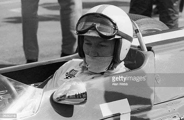 British racing driver and exworld champion John Surtees in a Lola Ford on the starting grid for the BUA International Trophy Race for formula 2 cars...