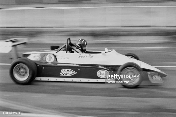 British racing driver Damon Hill on his JM14 Formula Ford 2000, John Kirkpatrick racing Team, at the qualifications for the BBC Grandstand FF2000...