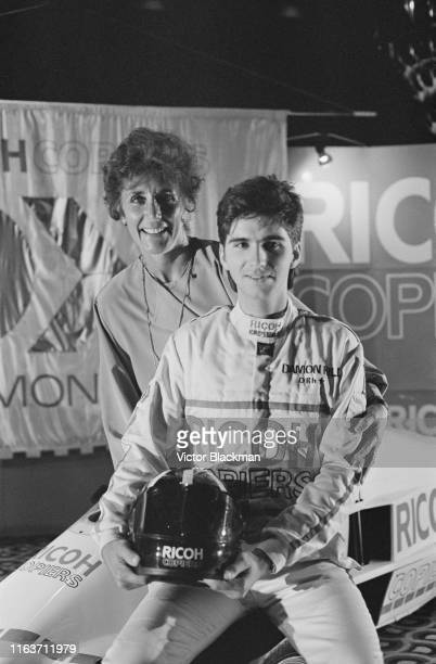 British racing driver Damon Hill with his mother Bette Hill, UK, 1st August 1984.