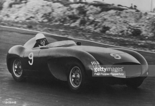 British racing driver David Blakely at the wheel of his 1954 HRG Emperor Sport Special circa 1955 Blakely was murdered by his lover Ruth Ellis on...