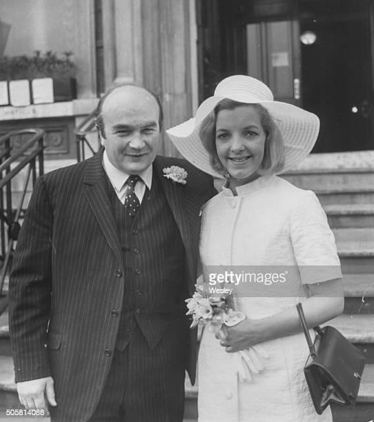 British Racing Driver David Piper And His Bride Liz Michell Pictured Outside Hampstead Registry Office Following